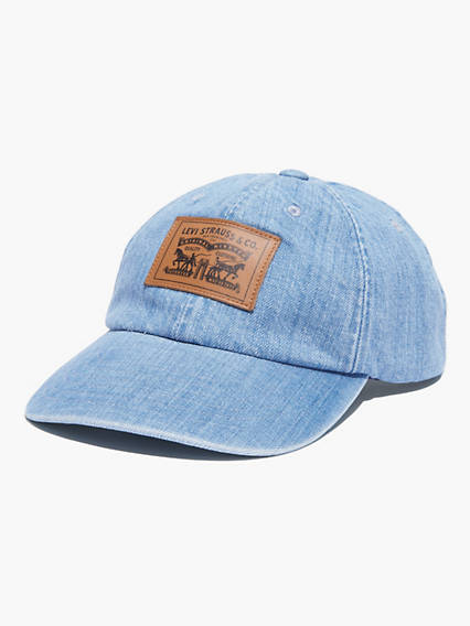 Levi's Two-Horse Patch Denim Baseball Cap - Men's One Size Show some Levi's® love with this classic hat. It displays our iconic Two Horse Pull logo, which demonstrates the strength of our clothing.
