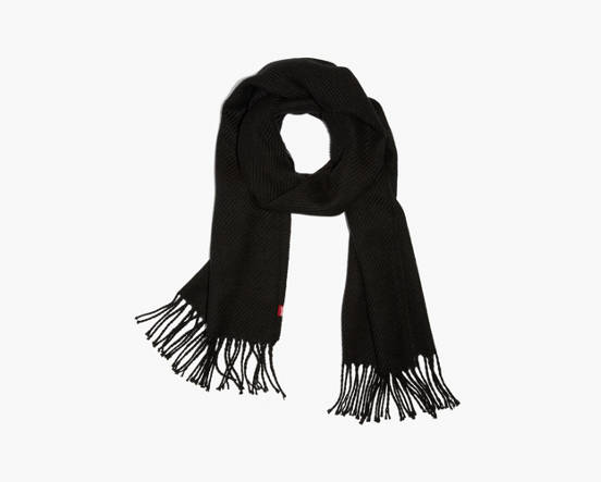 Solid Twill Oblong Scarf - Black   Levi s® IE 58c693bedd6