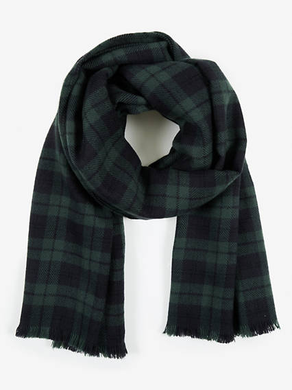 Menswear Plaid Wrap