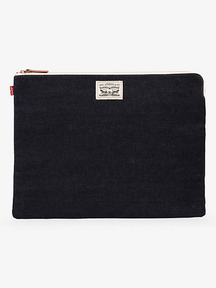 Denim Zip Pouch Bag