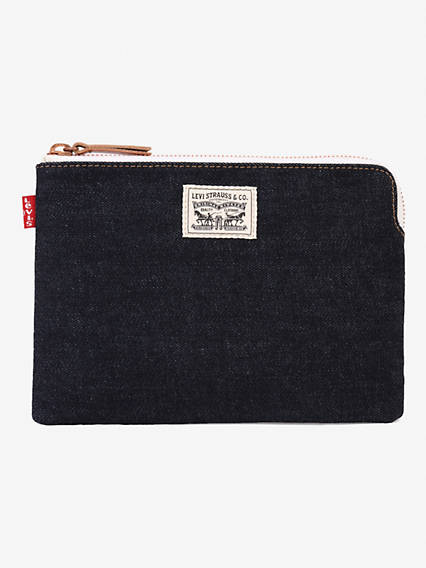Denim Zip Pouch Small Bag