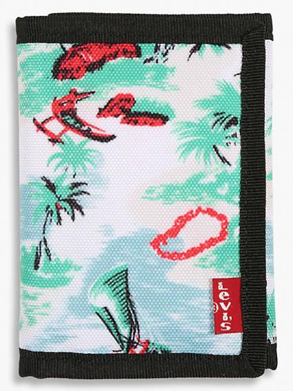 Hawaiian Print Trifold Wallet