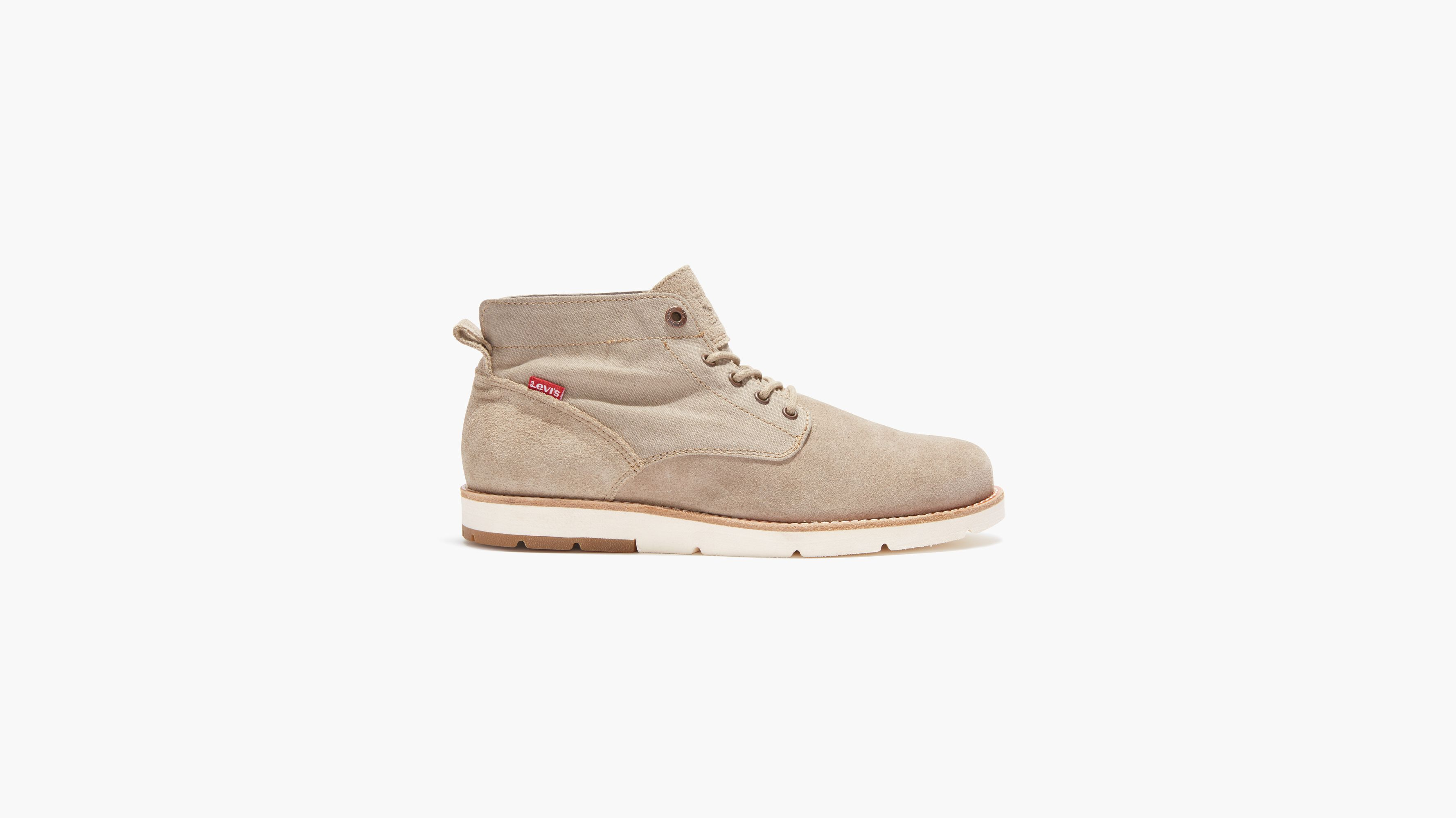 Mens Levi's Henry Canvas Pu Navy Brown Casual Shoes Z22474