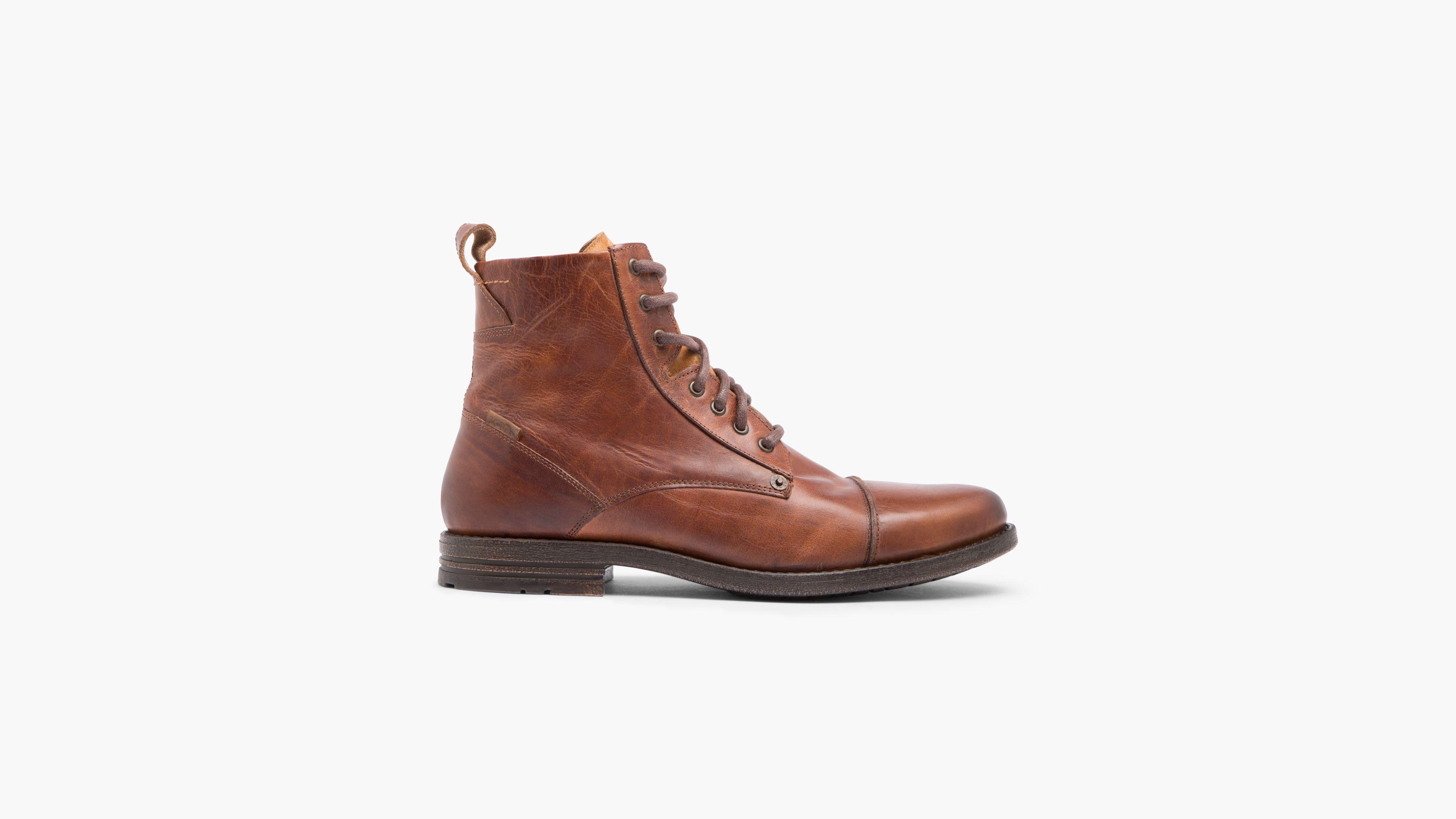 buy online 176b8 646ba Pas Cher Authentique Chaussures à lacets Levi s noires Casual homme  Footaction Vente En Ligne Prix