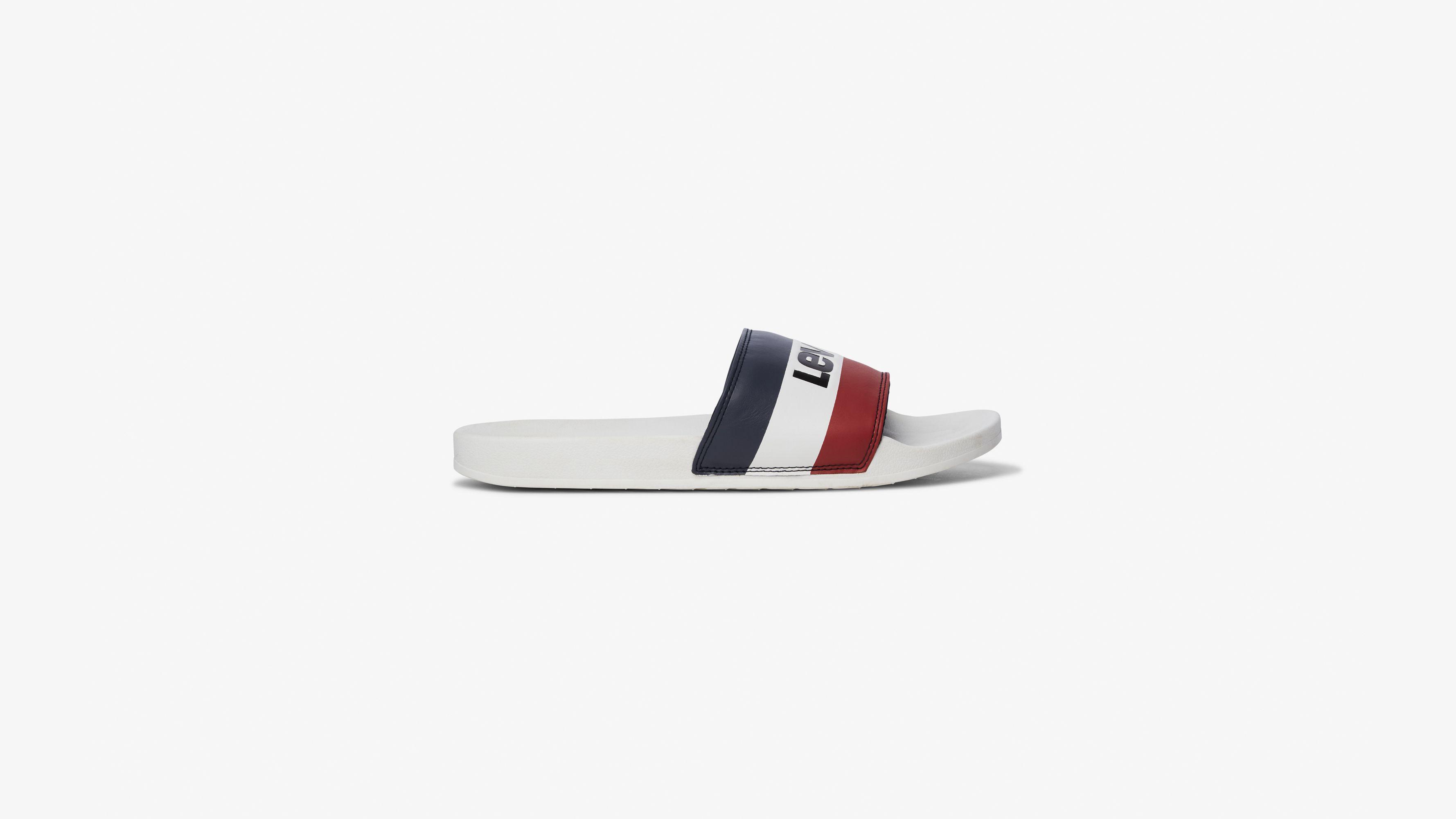 June Sportswear Slide Sandal White | Levi's® DK