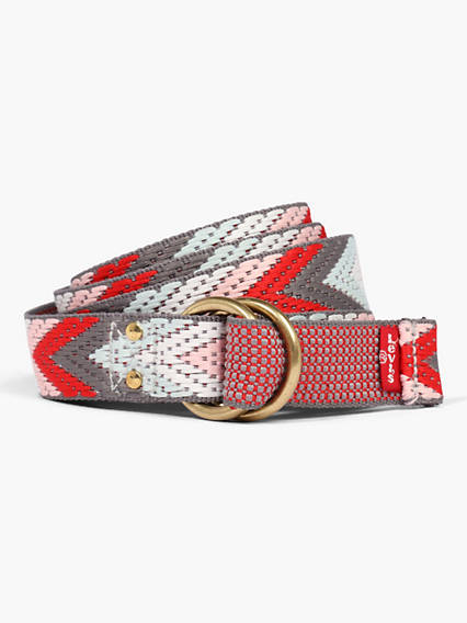Patterned D-Ring Belt