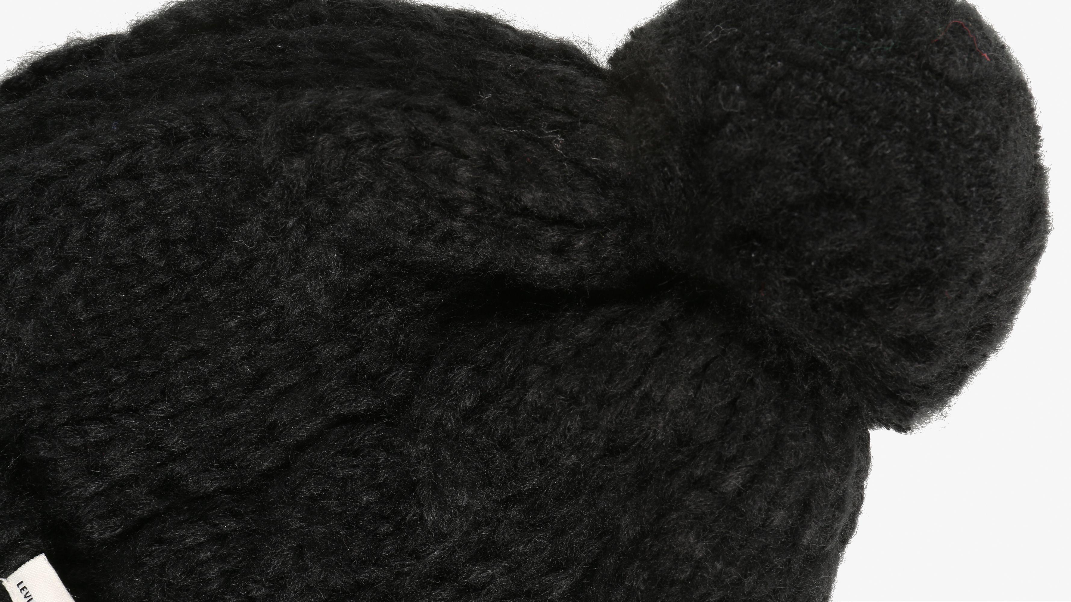 47408017 Lofty Cable Beanie - Black   Levi's® US