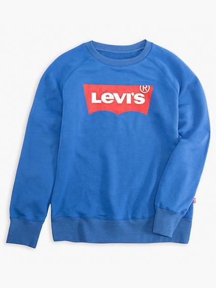 Big Boys Levi's® Logo Pullover Sweatshirt