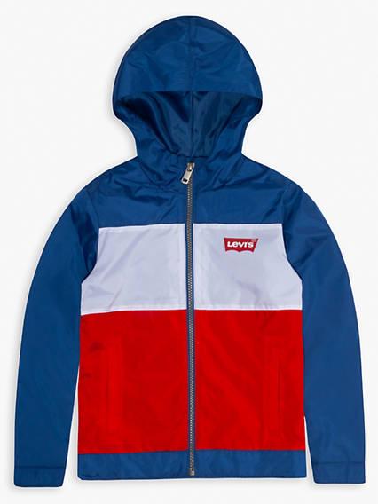 Big Boys Hooded Windbreaker Jacket