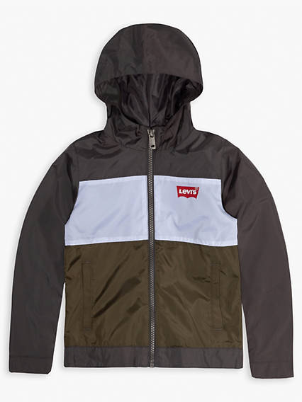 Big Boys Hooded Windbreaker Jacket