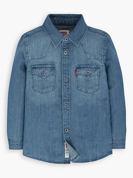 8eb879c31f2 Little Boys 4-7x Barstow Western Shirt