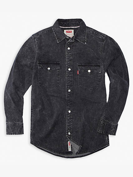 Little Boys 4-7x Denim Western Shirt