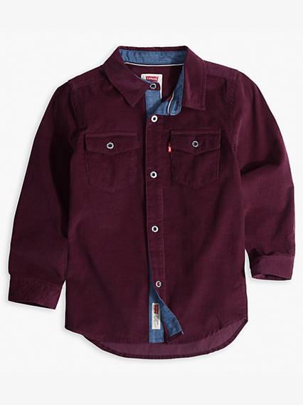 Boys 8-20 Corduroy Western Shirt