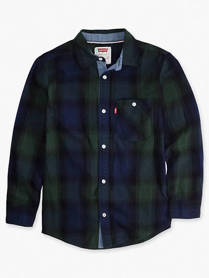 Boys 8-20 Plaid Woven Shirt