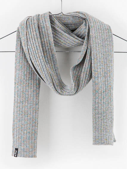 Lurex Ribbed Scarf Ov