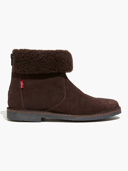 Honey Sherpa Ankle Booties