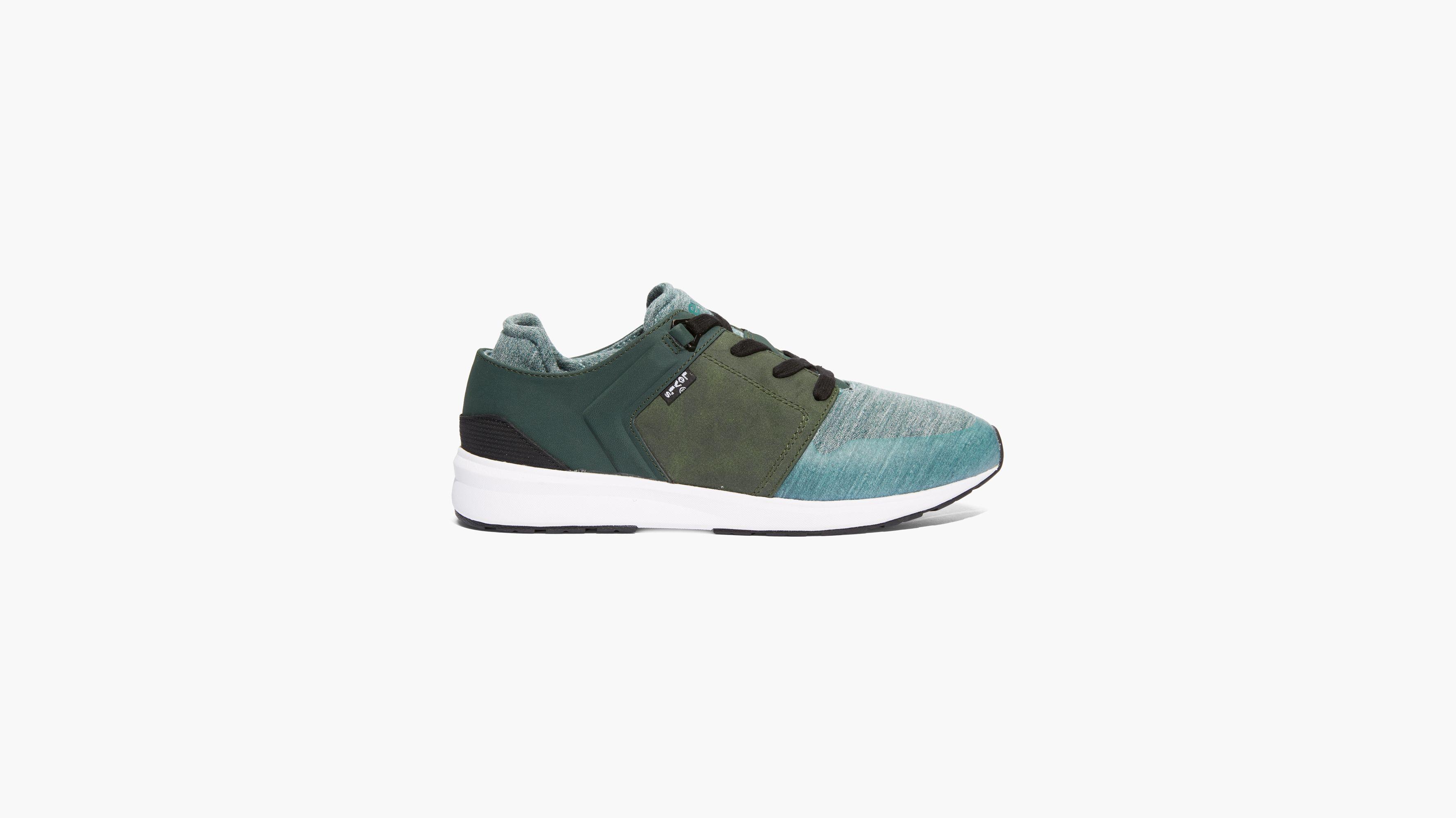 Black Tab Runner Sneakers - Green