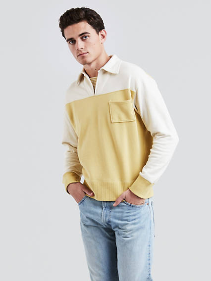 One-Pocket Pullover Sweatshirt