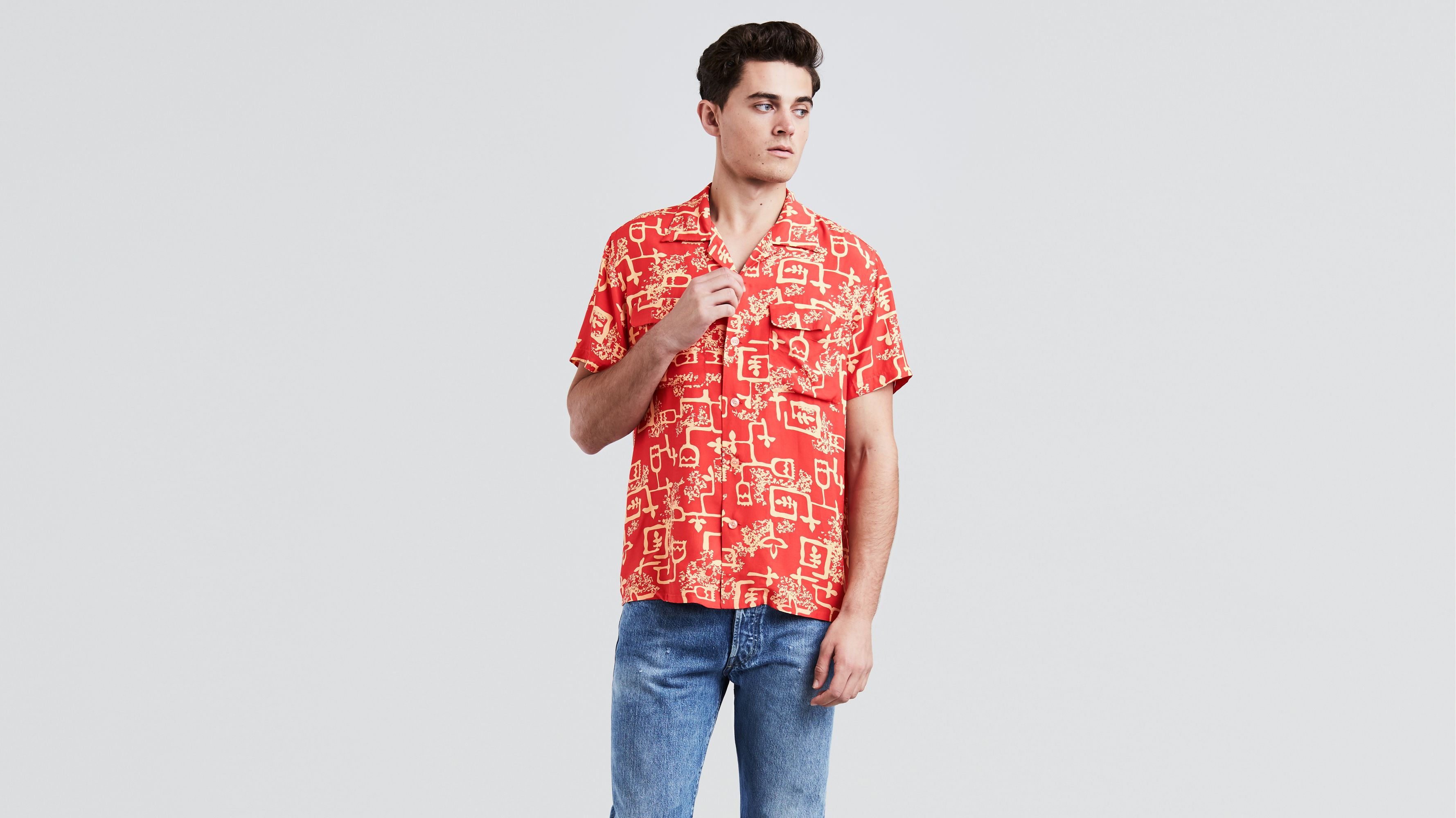 5e06706f 1940's Hawaiian Shirt - Red | Levi's® US