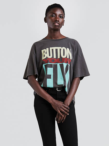 Button Your Fly Tee Shirt