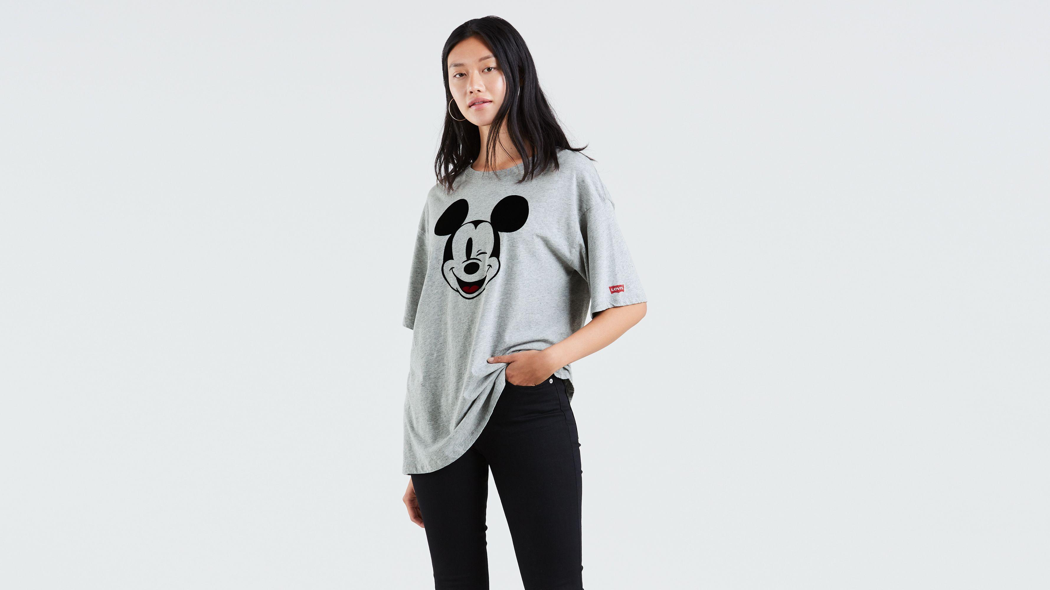 6dde738d Levi's® X Disney Mickey Mouse Graphic Slacker Tee Shirt - Grey   Levi's® US
