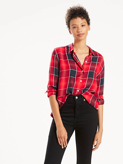 Sidney Button Back Boyfriend Shirt
