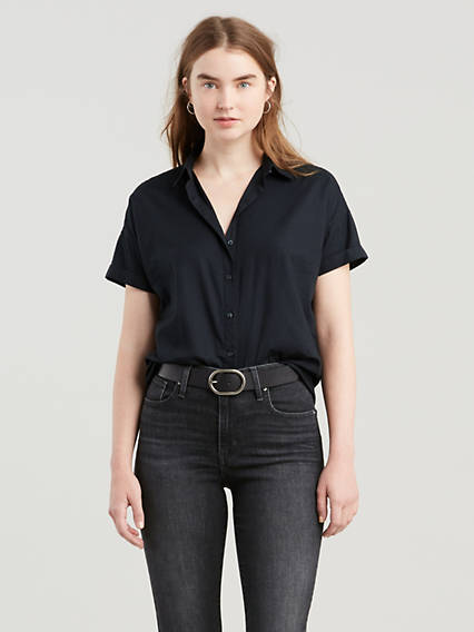 Sadie Short Sleeve Button-up Shirt