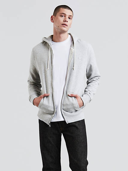 Batwing Zip-Through Hoodies