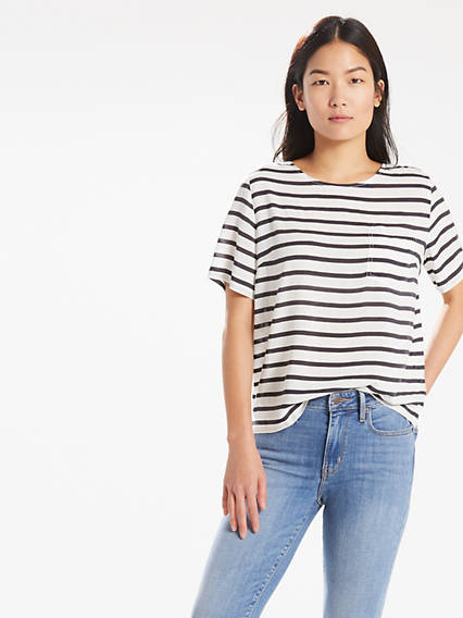 Relaxed One Pocket Tee