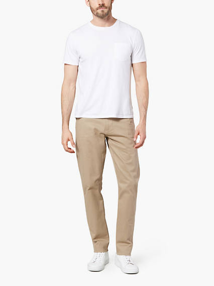 BIG & TALL DOCKERS® ALPHA KHAKI - STRETCH TWILL