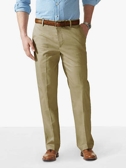 Big & Tall Signature Iron Free Khaki Pants