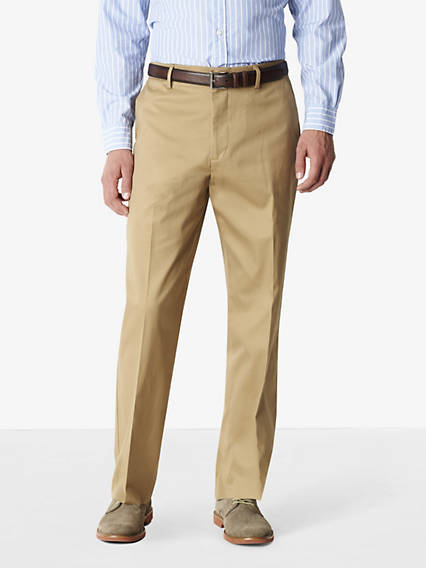 Signature Iron Free Khaki Pants, Relaxed Fit