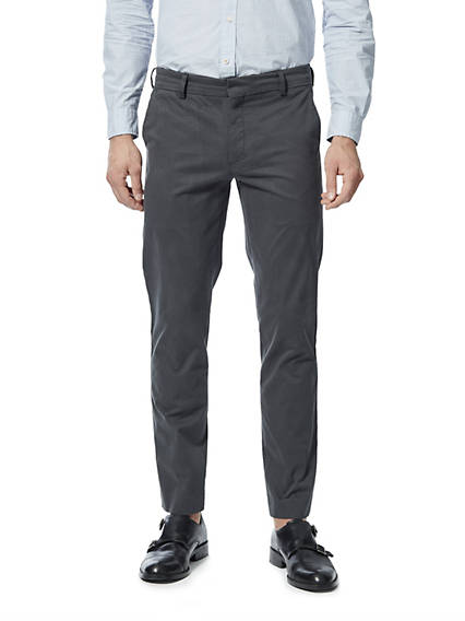 Creased Chino, Extra Slim Fit - Stretch Sateen