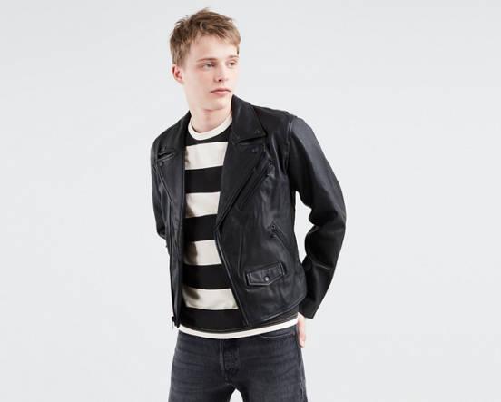 0279bb13e3ab Leather Moto Jacket - Black