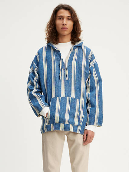Levi's® Made & Crafted® Woven Hoodie Shirt