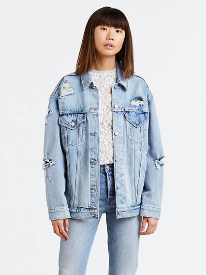 Shredded Baggy Trucker Jacket