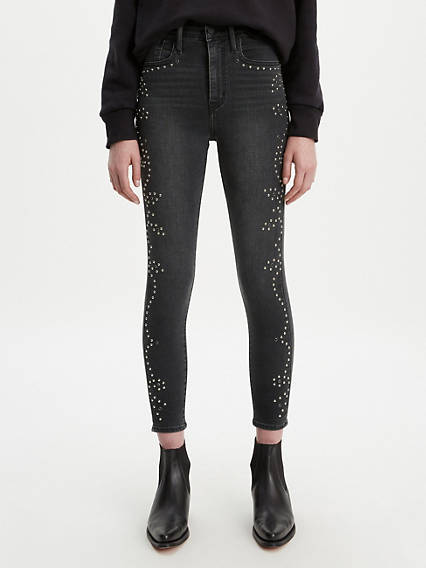 Mile High Super Skinny Studded Ankle Jeans
