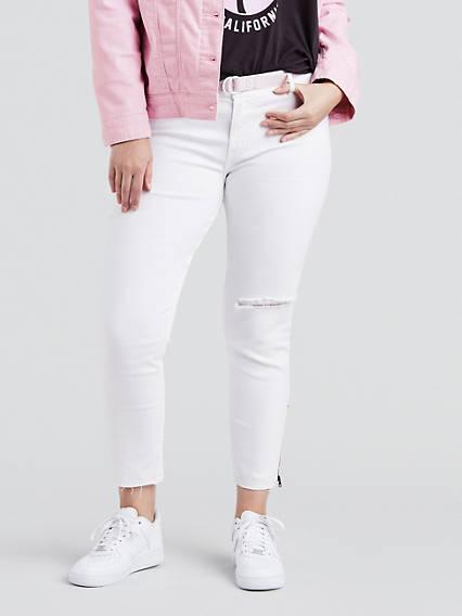 711 Skinny Ankle Zip Jeans (Plus)