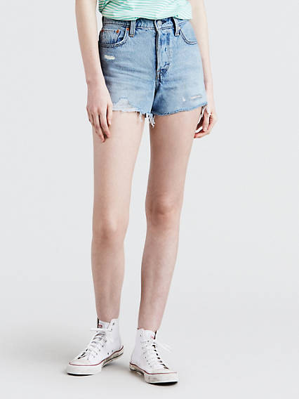 6872688924cf Women s High Rise Shorts - Shop High Waisted Denim Shorts   Levi s® US