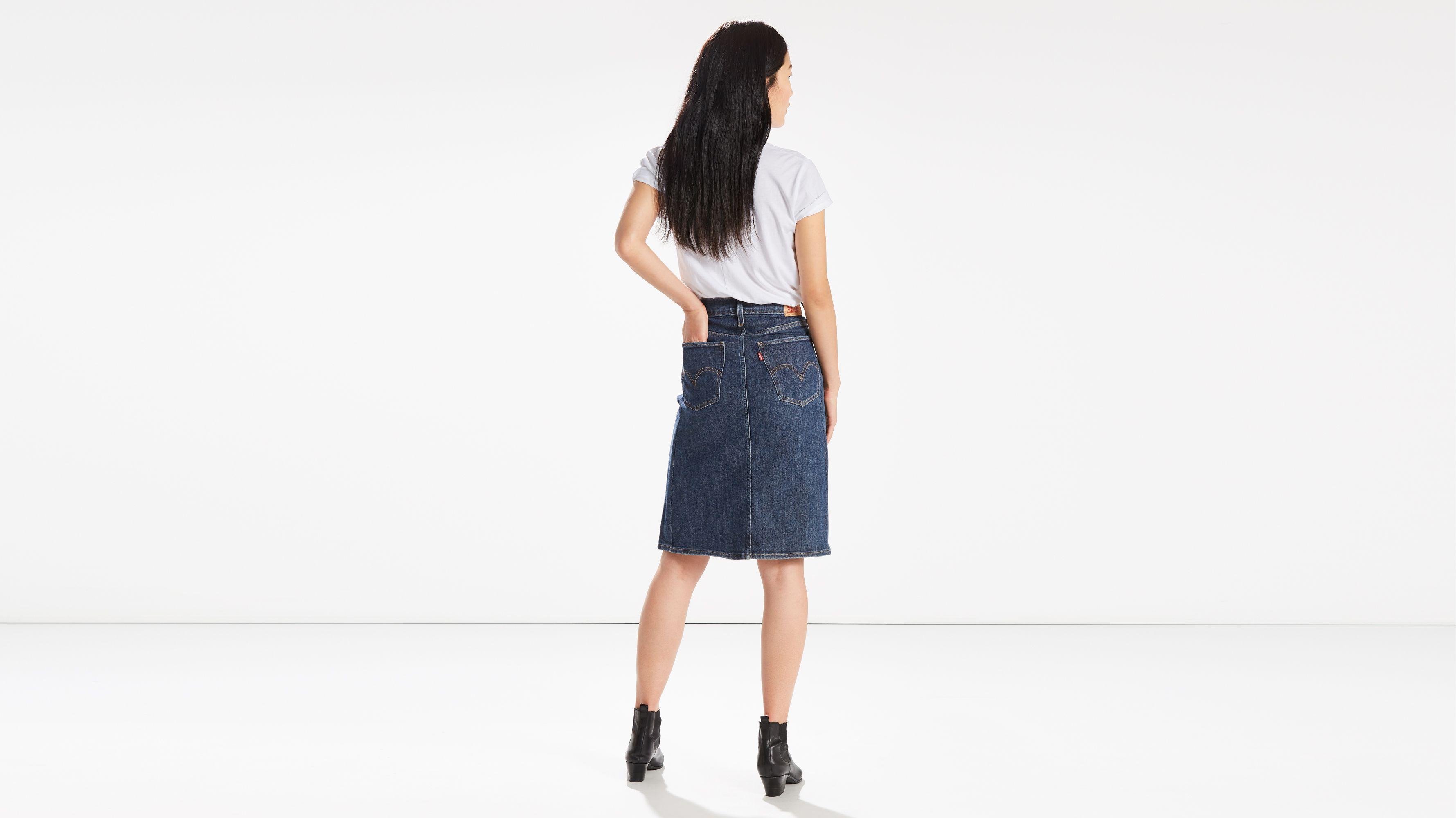 3da2f626 A-line Midi Skirt - Blue   Levi's® US