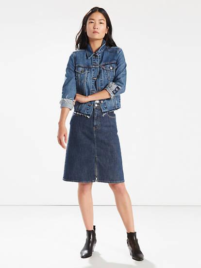 c674abb7a0de A-line Midi Skirt - Blue | Levi's® US