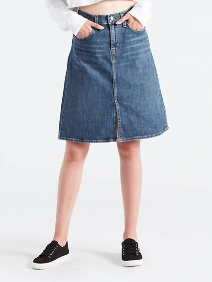 A-Line Midi Skirt Skirts