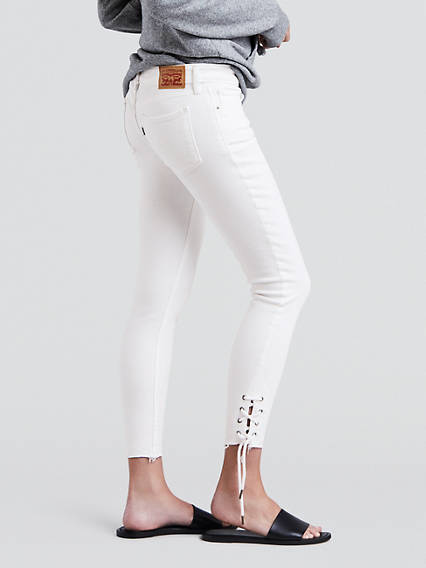 711 Skinny Lace Up Jeans