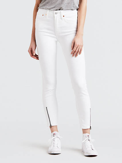 721 High Rise Altered Zip Skinny Jeans