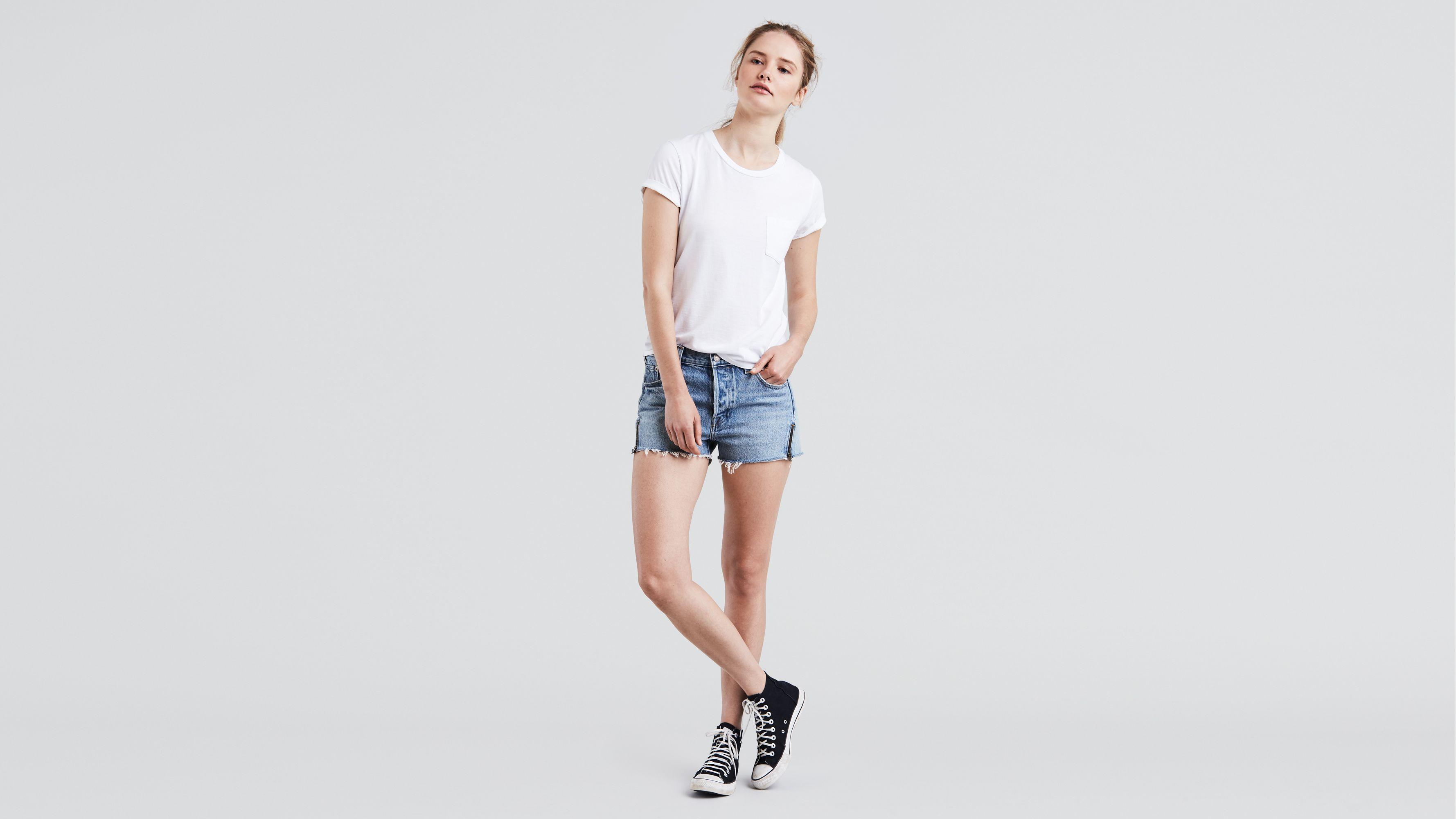 2e05b06e 501® Altered Zip Shorts - Medium Wash | Levi's® US