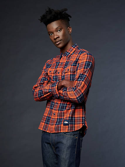 Levi's® NFL Grid Iron Plaid Shirt