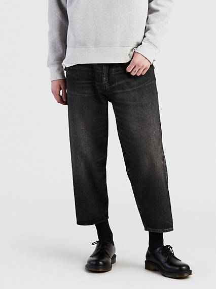 Broad Cropped Wide Leg Jeans