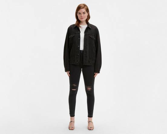 568bc10287c90 720 High Rise Super Skinny Jeans - Black