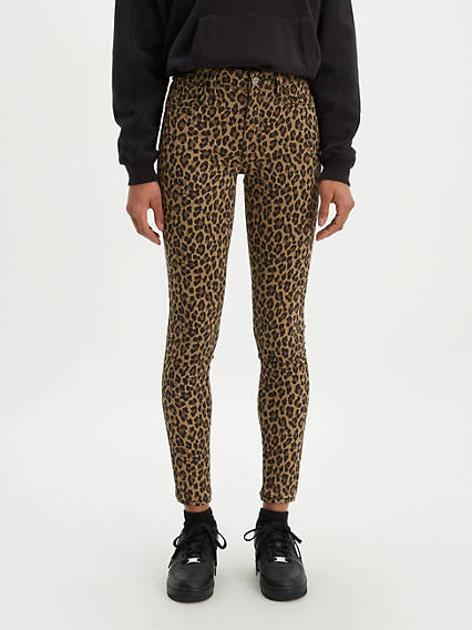 720 High Rise Super Skinny Leopard Print Women's Jeans