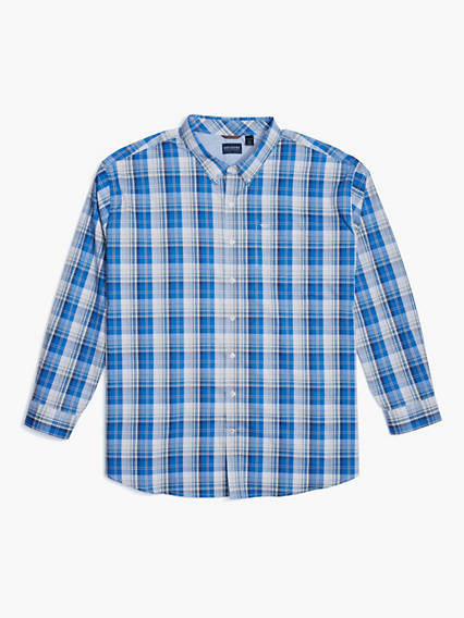 Men's Big & Tall Soft No Wrinkle Button-Up Shirt
